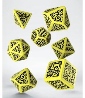 Set de dados para rol en amarillo y negro Outer Gods Hastur - Call of Cthulhu