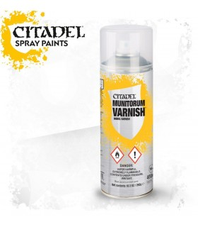 Bote de barniz en spray de 400 ml Munitorum varnish - Citadel
