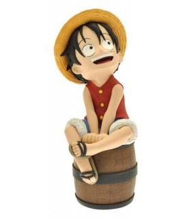 Hucha Luffy en barril- One piece
