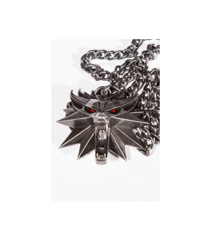 Medallón escuela del Lobo con iluminación - The Witcher