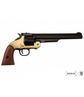 Réplica revólver S&W M3 .45 Schofield 1861 en negro y latón