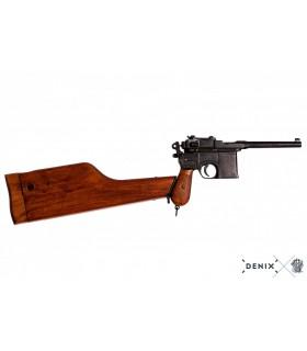 "Réplica Pistola semi-automatica Mauser C96 ""Broomhandle"" con culata de madera"