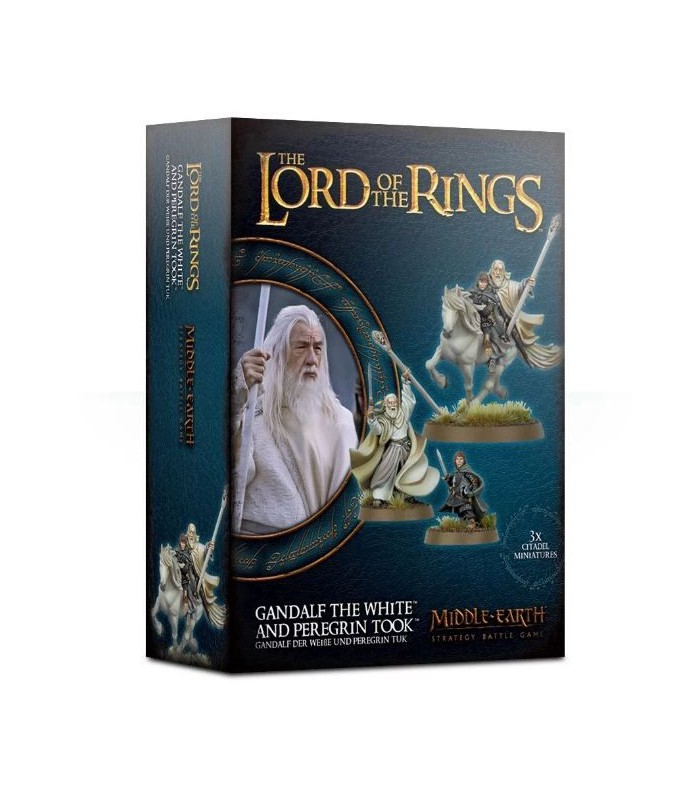 Gandalf El Blanco y Peregrin Tuk - Games Workshop Middle Earth