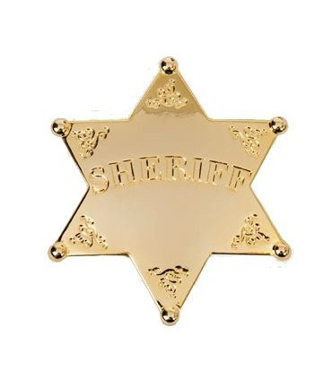 Insignia Sheriff con baño de oro