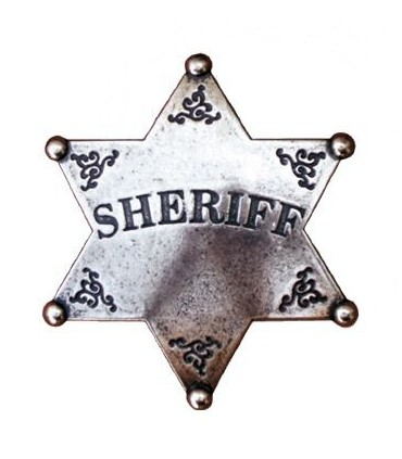 Insignia de Sheriff plateada