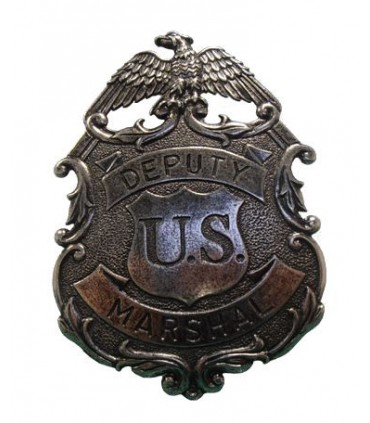 Insignia plateada Deputy Marshal de los Estados Unidos