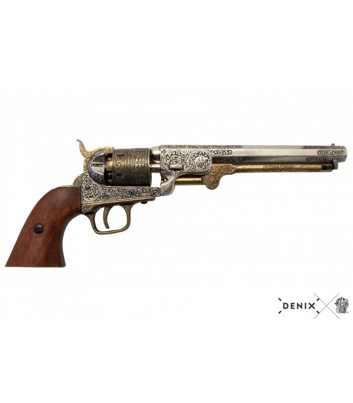 """Réplica revolver Colt """"navy"""" de la batalla de campeche"""