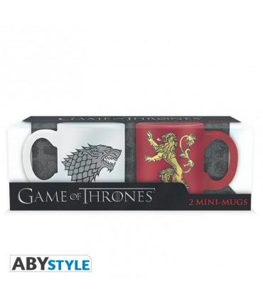 Set de dos tazas de café Stark y Lannister -  Juego de Tronos