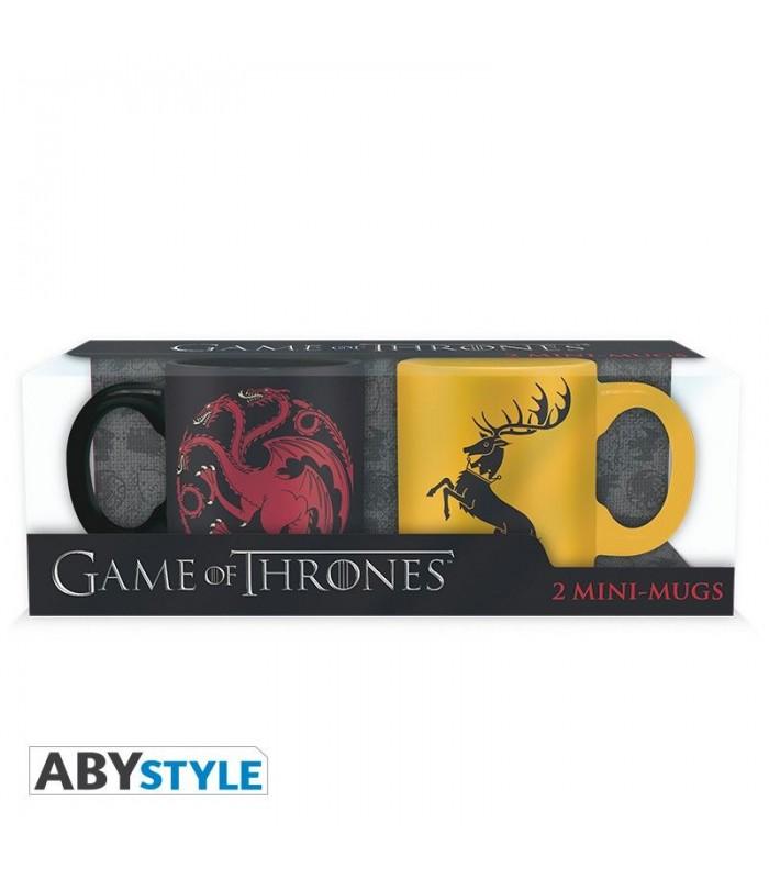 Set de dos tazas de café Targaryen y Baratheon -  Juego de Tronos