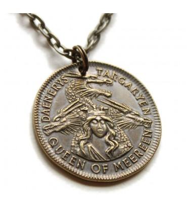 Colgante Moneda de Daenerys Reina de Mereen - Juego de Tronos
