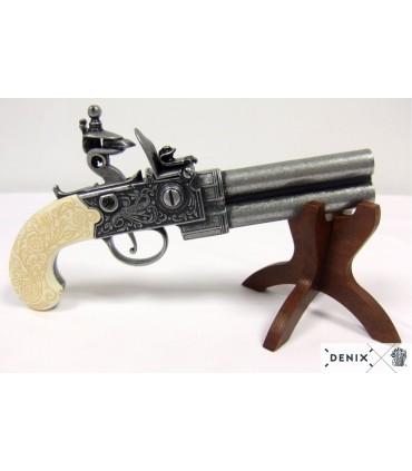 Réplica Pistola Twigg de dos cañones S.XVIII