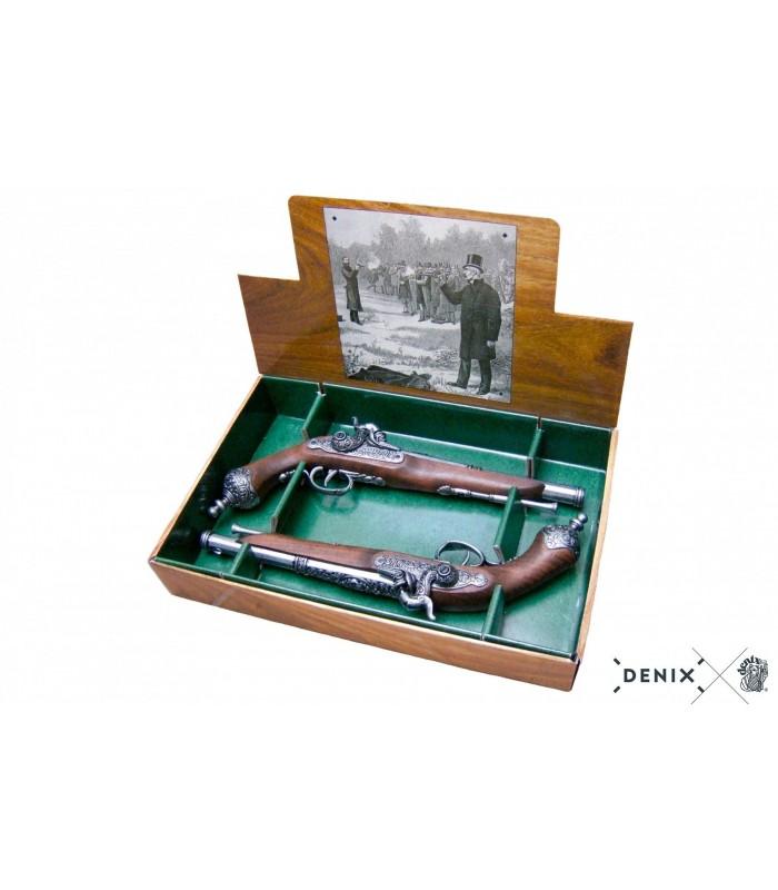 Réplica pistolas de duelo italianas del S.XIX