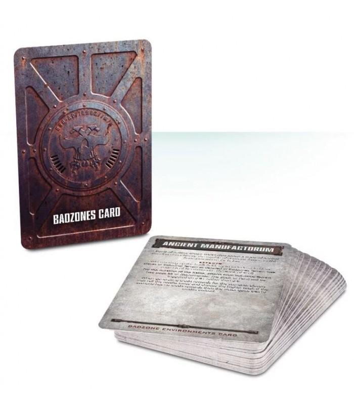 set de cartas de entornos y eventos en las Badzones- Necromunda