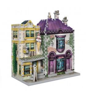 Puzle 3D Boutique de Madam Malkin's y heladería de Florean Fortesque - Harry Potter