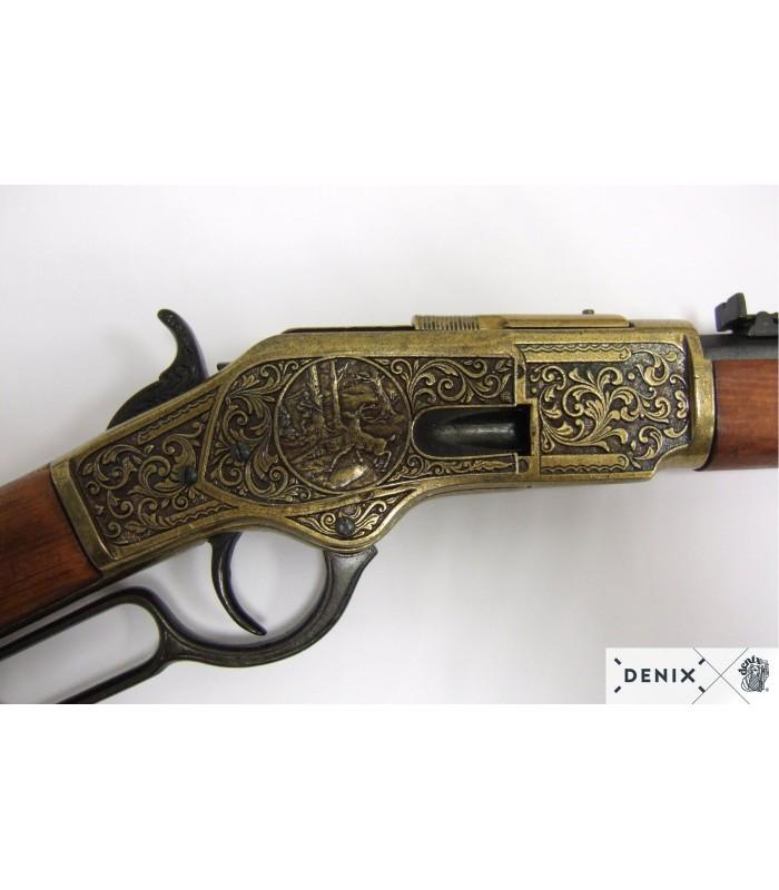 Réplica carabina Winchester MOD.73 negro y latón