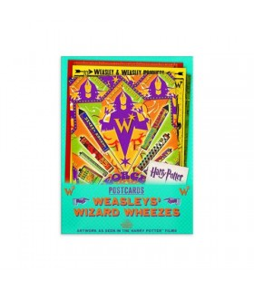 lote de postales sortilegios weasley - Harry Potter