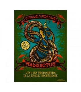 Cartel Maledictus circo arcanus - Animales fantásticos y dónde encontrarlos