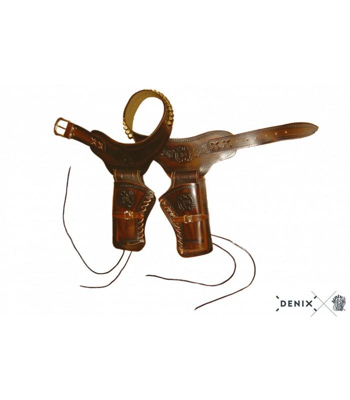 Canana de piel para dos revólveres - Denix