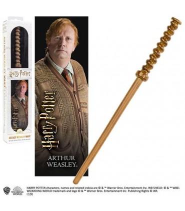 Set de varita de Arthur Weasley con punto de libro - Harry Potter