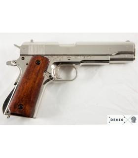 "Réplica Pistola semi-automatica Colt M1A1 ""1911"" Niquelada"