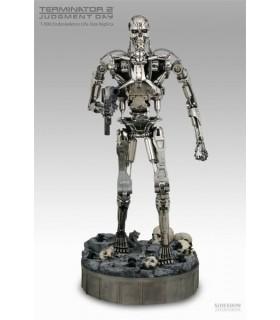 Terminator T-800 Endoskeleton Chrome version Figura Escala 1:2