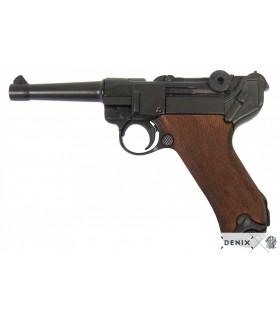 Réplica Pistola semi-automatica Luger P08 con cachas en madera.