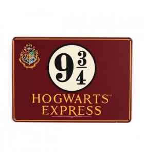 Placa metálica Muggles - Harry Potter