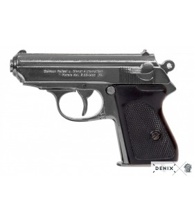 Réplica Walther PPK niquelada