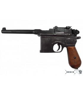 "Réplica Pistola semi-automatica Mauser C96 ""Red 9"" con cachas en madera"