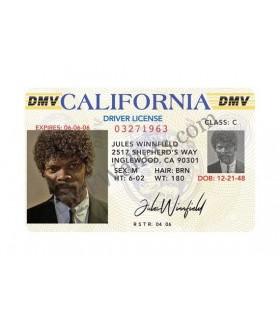 Réplica del carnet de conducir de Jules Winnifield - Pulp Fiction