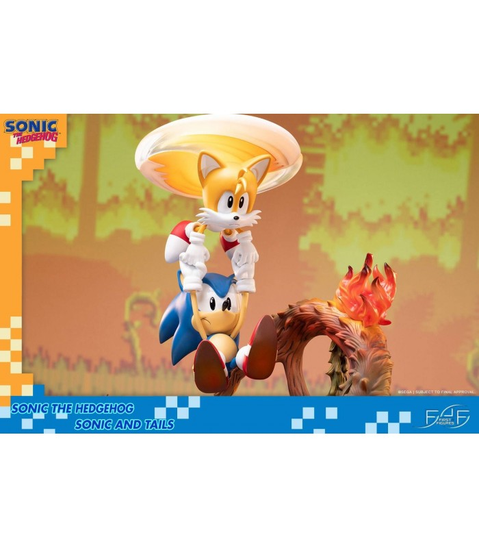 Diorama sonic y tails clásicos - Sonic The Hedgehog