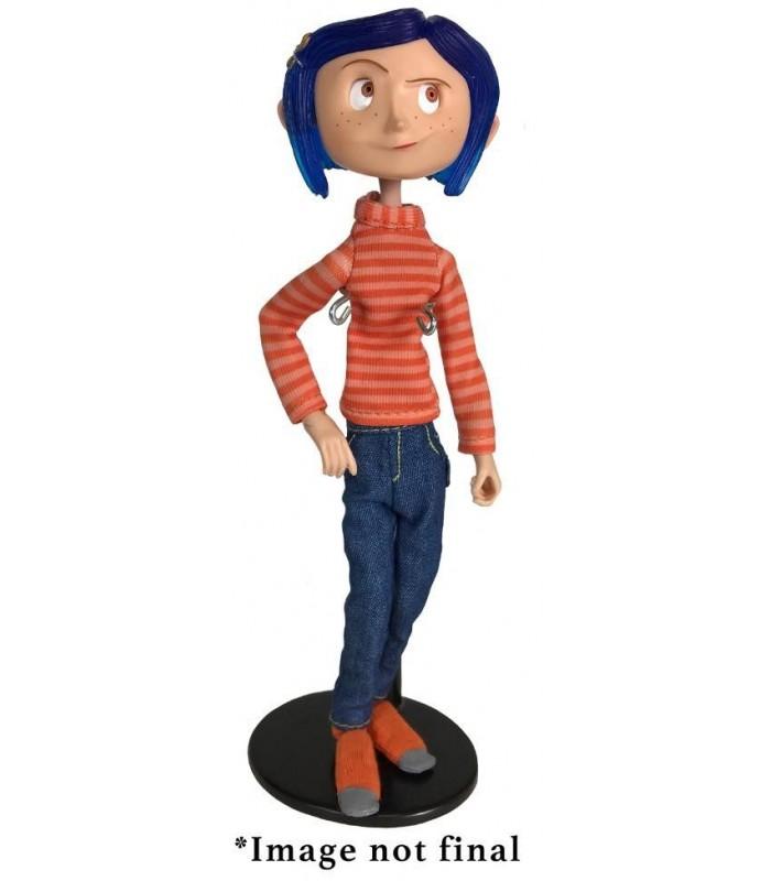 Figura articulada de Coraline con camiseta a rayas y vaqueros - Los Mundos de Coraline