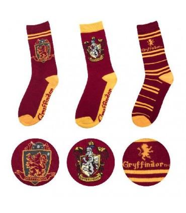 Juego de 3 pares de calcetines variados Gryffindor - Harry Potter