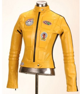 "Chaqueta de Cuero Amarilla ""La Novia"" (The Bride) Kill Bill"