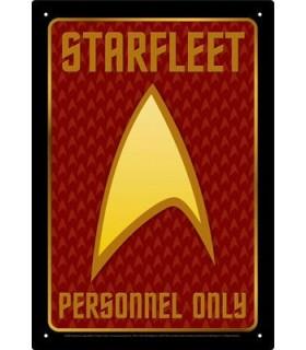 Placa Metálica Personal de la Flota Estelar - Star Trek