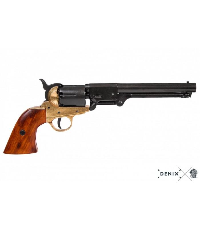 Réplica revolver Confederado 1860 negro y latón