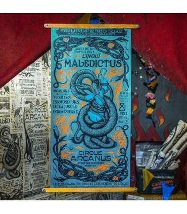 Póster presentación de la Maledictus Nagini - Animales fantásticos y donde encontrarlos