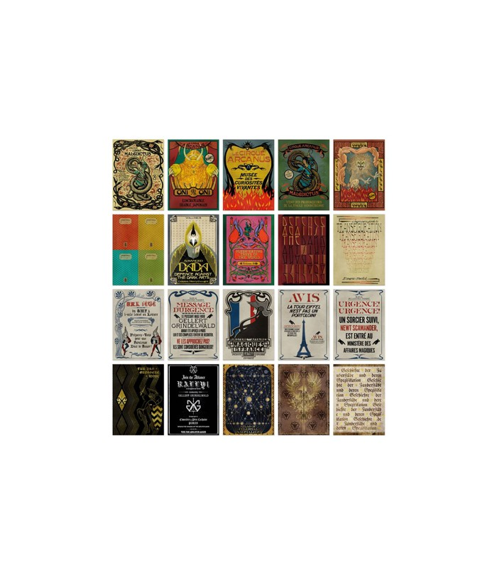 Colección de postales variadas de Los crímenes de Grindewald - Animales fantásticos y donde encontrarlos