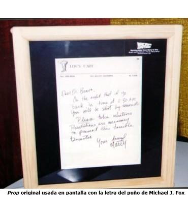 Carta de Aviso de Marty McFly a Doc Brown Regreso al Futuro