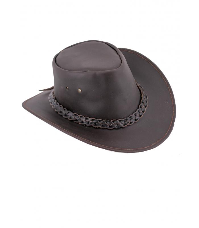 Sombrero vaquero de cuero