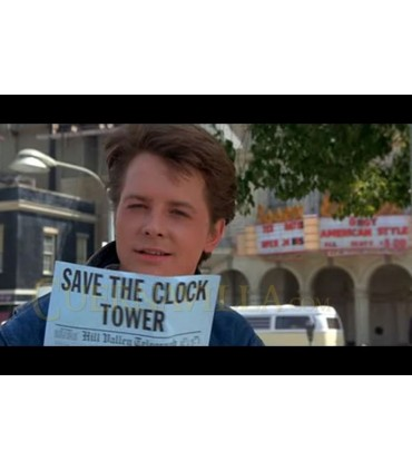 Panfleto SAVE THE CLOCK TOWER Regreso al Futuro