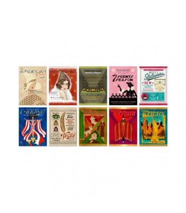 Colección de postales variadas de la Revista Mágica - Animales fantásticos y donde encontrarlos
