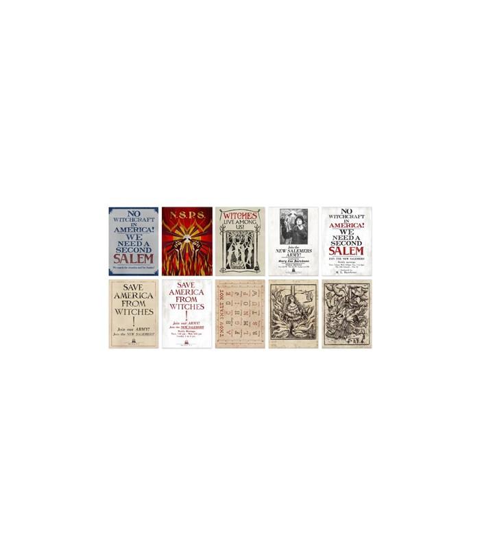 Colección de postales variadas de La Nueva Sociedad Filantrópica de Salem- Animales fantásticos y donde encontrarlos