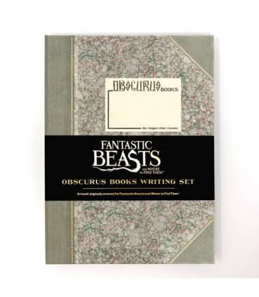 Set de escritura de Obscurus Books - Animales Fantásticos