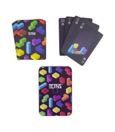 Baraja de cartas temática decorada - Tetris
