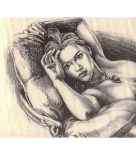 Lamina Dibujo de Rose por Jack Dawson a Mano Alzada Titanic