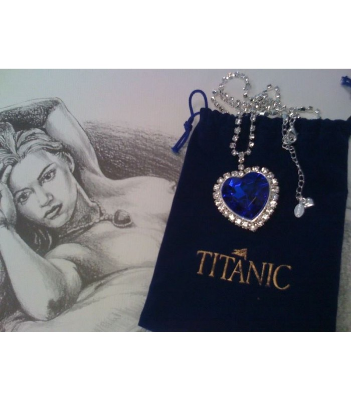 Colgante Corazón de la Mar Rose DeWitt Dawson Titanic