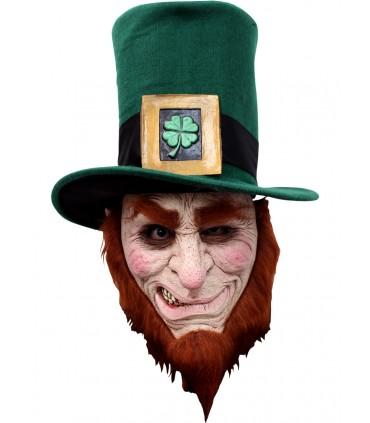 Máscara completa de Leprechaun Irlandés para adulto