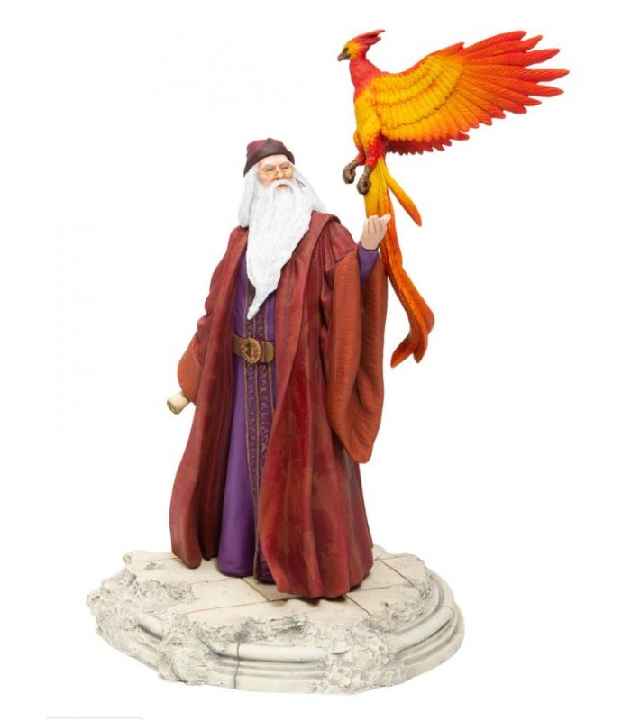 Figura de Albus Dumbledore con Fawkes - Harry Potter
