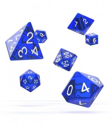 Set de dados de rol azul translucido - ROL